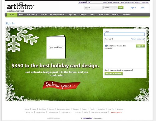 Sign-in Ad Unit - Holiday Contest | by TangerineKlarb