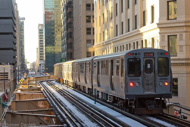 Orange Line Train 711 to Midway