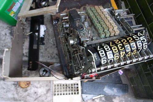 broken old register