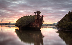 Homebush Shipwreck at Dawn | by brentbat