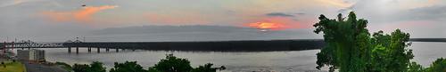 bridge sunset autostitch river mississippi landscape geotagged quote mosaic jackson impressedbeauty wowiekazowie geo:lat=32319634 geo:lon=90897049