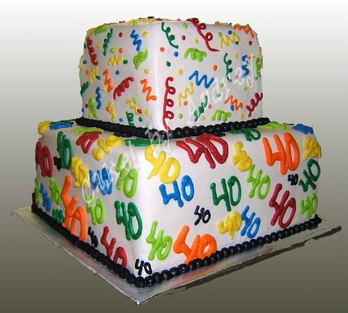 Miraculous Happy 40Th Birthday Cake No Guessing The Age Of The Birthd Flickr Funny Birthday Cards Online Inifodamsfinfo