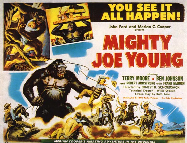 "Mighty Joe Young 22x28 insert poster (1949) | Sort of a ""kin… 