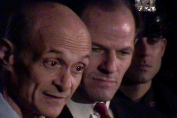 DHS Secretary Michael Chertoff and Gov. Eliot Spitzer | by Red Carlisle