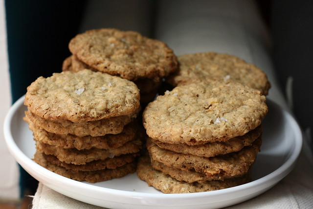 salted oatmeal white chocolate cookies of awesomeness