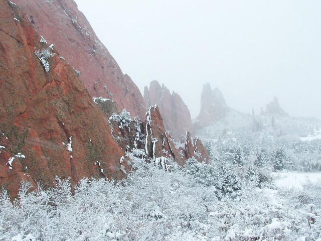 Garden Of The Gods In Winter Colorado Springs The West Si