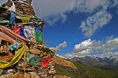 Chorten and prayer flags (Druk Path Trek, Bhutan) | by jmhullot