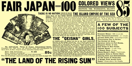 AD FOR BOXED SET OF T. ENAMI STEREOVIEWS OF JAPAN in the SEARS, ROEBUCK & CO 1908 CATALOG | by Okinawa Soba (Rob)