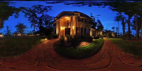 panorama house home night outdoors florida hdr 360x180 360° eagleharbor sigma1020mm hugin equirectangular flemingisland conformal landscapelighting enfuse