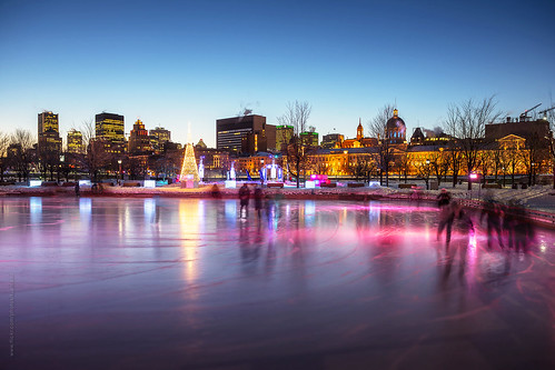 lighting city longexposure winter snow canada cold color colour building ice skyline architecture night evening twilight nikon downtown cityscape montréal quebec montreal clear québec skate oldmontreal bluehour activity oldport vieuxport iceskate nightfall d600 iceskatingrink downtownmontreal nikond600