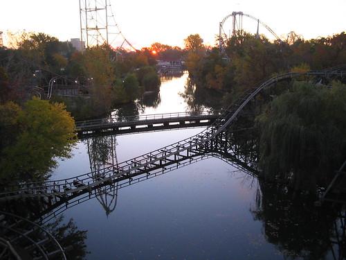 park ohio sunrise point amusement mine ride cedar roller rollercoaster coaster sandusky