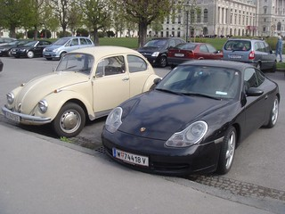 Porsche 911 996 Carrera and Volkswagen Beetle | by Michi1308