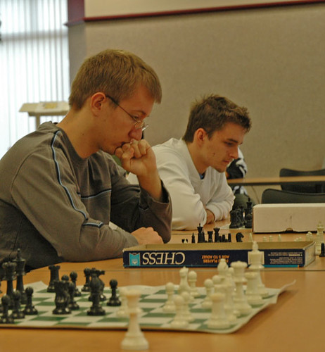 College students playing chess