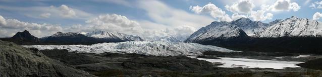 Stitched shot of the Matanuska Glacier