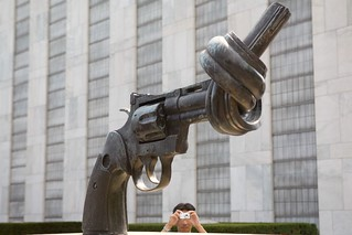 Funny shot at United Nations (UN HQ)   by Luke Redmond