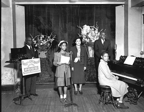 Voice of Childhood radio station, Plymouth Sunday School, 1940 | by Black History Album