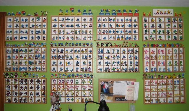 PVC collection smurfs, california raisins, snorks, care bears, mr men, astrosniks, ect.