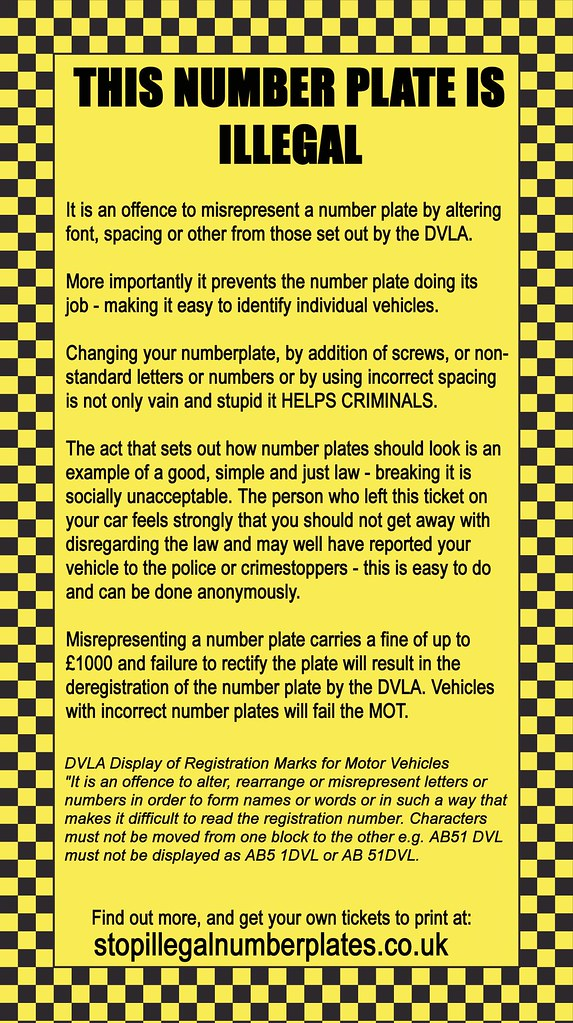 Faux Parking Ticket For Illegal Number Plates New Version Flickr