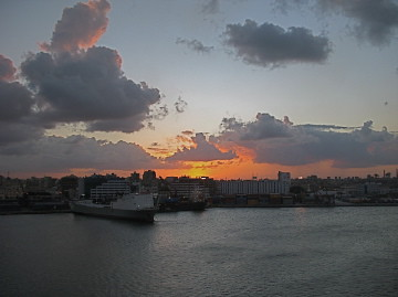 sunset cloud port sunrise harbor day egypt alexandra