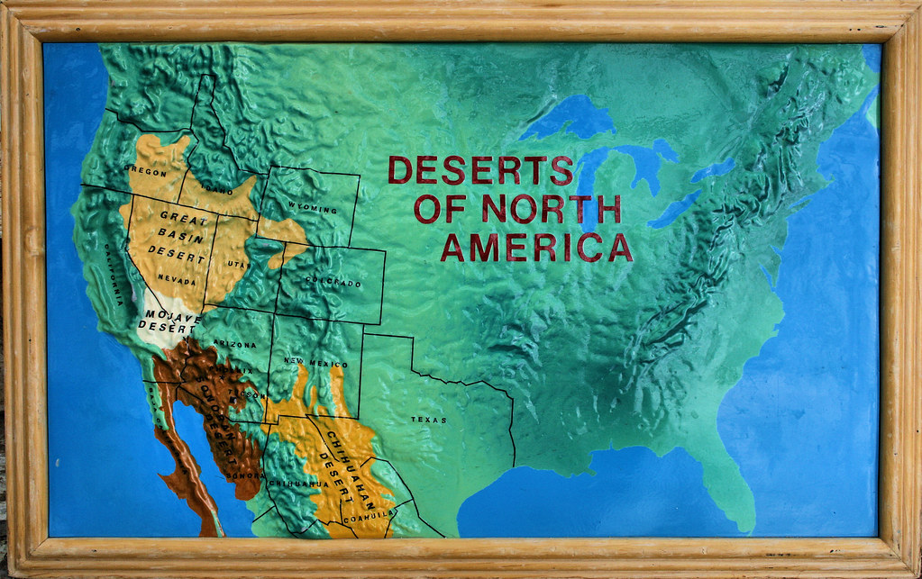 deserts in north america map Deserts Of North America This Was A Map That Was On Displa Flickr deserts in north america map