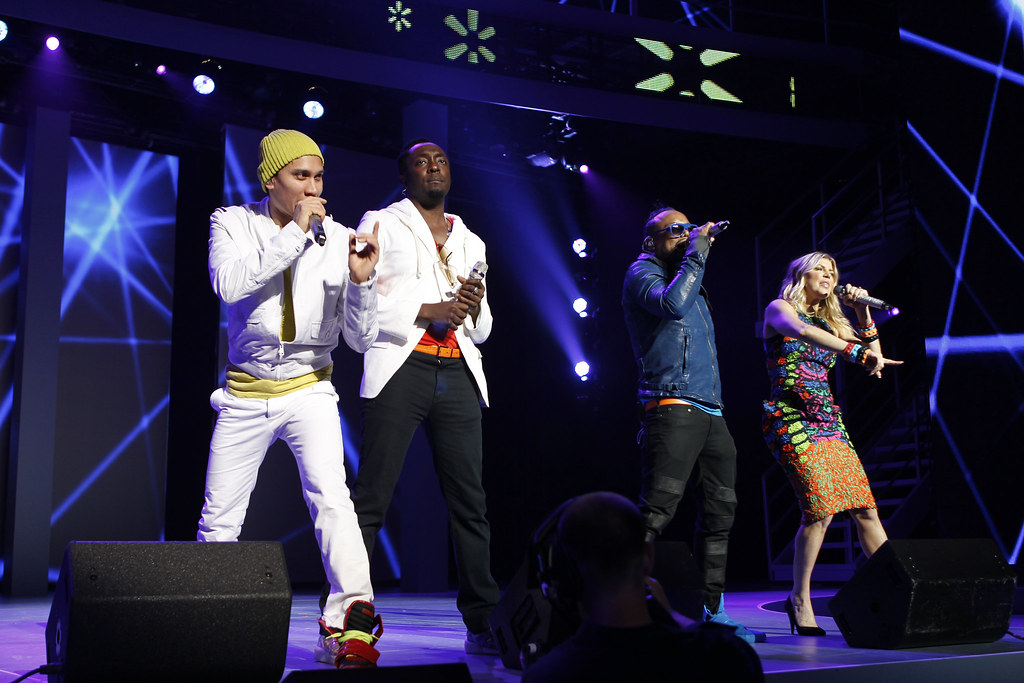 The Black Eyed Peas Singing at Walmart Shareholders Meeting 2011