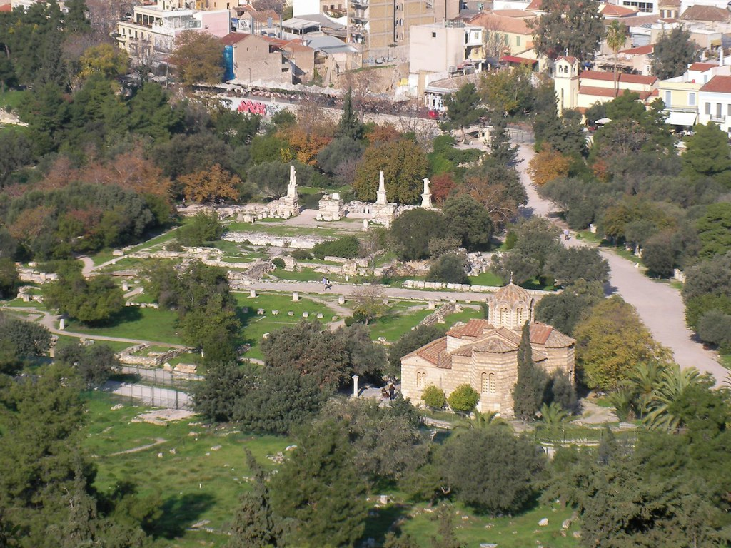 Aerial view of Agora