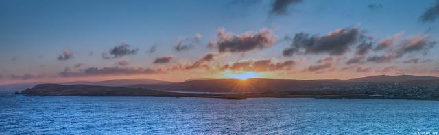Sunset over Lerwick, Shetland Islands