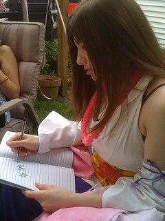 Danielle writing my name in the Death Note 0_0