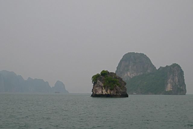 Halong Bay, near and far
