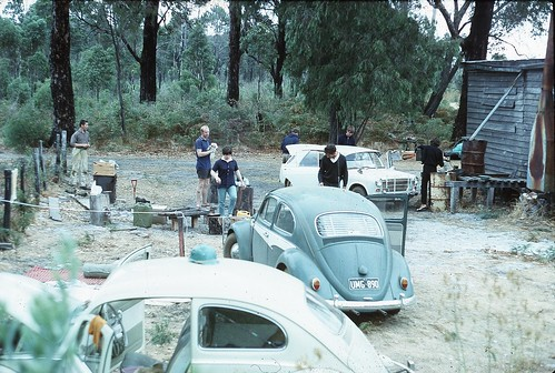 Boranup Hut scene in SW WA on WASG caving trip, 1965