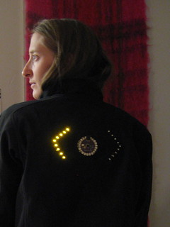 turn signal biking jacket | by leahbuechley