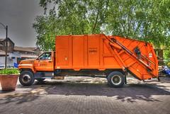 Big Orange Garbage Truck | by Creativity+ Timothy K Hamilton