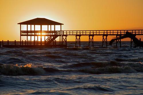 sunset water lake pontchartrain louisiana