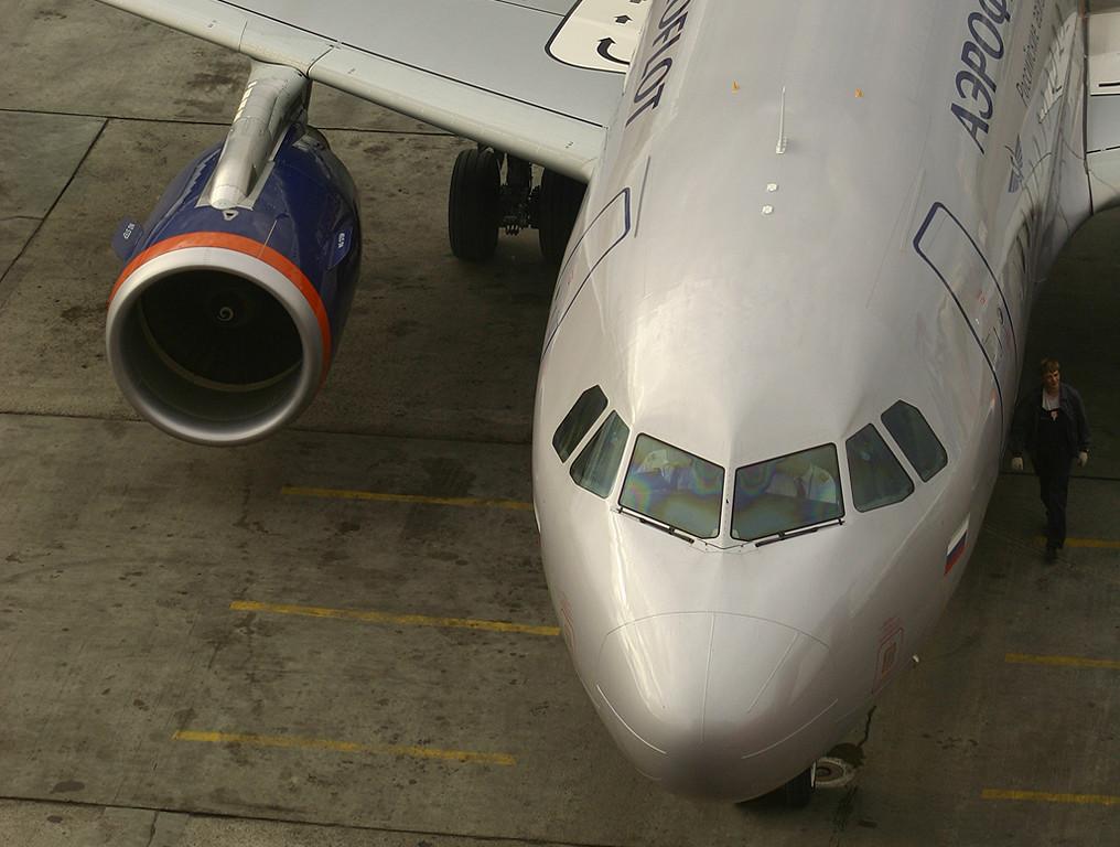 Aeroflot A319 at Sheremetyevo, Moscow