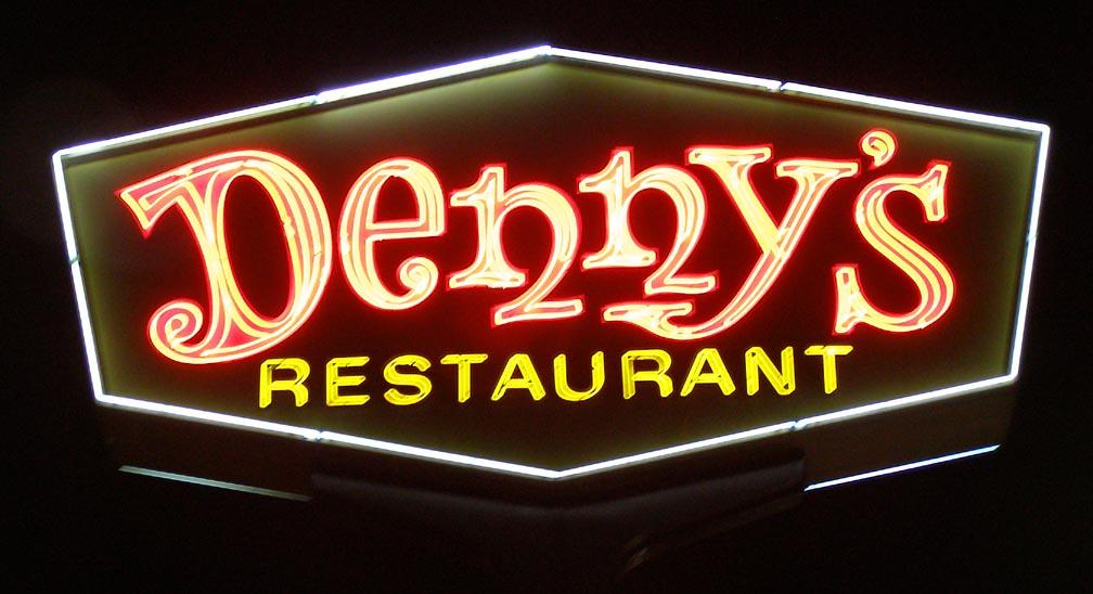 denny's sign