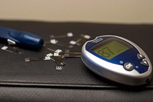 Blood glucose meter and testing strips | by DeathByBokeh