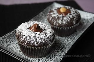Drunken Devil's Food Espresso Cupcakes with Nutella Filling   by MsAdventuresinItaly