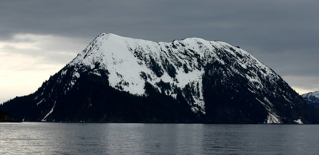 Imposing bulk of Fox Island (I think)