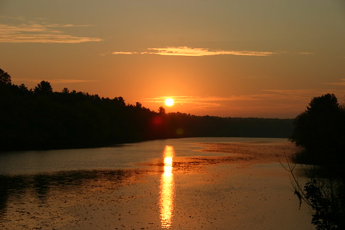 sky sun water sunrise river merrimack