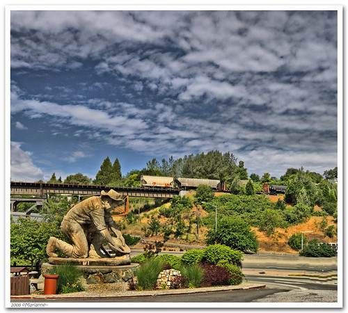 california statue train auburn mines hdr miner placercounty goldcountry photomatix 3exp sfchronicle96hrs