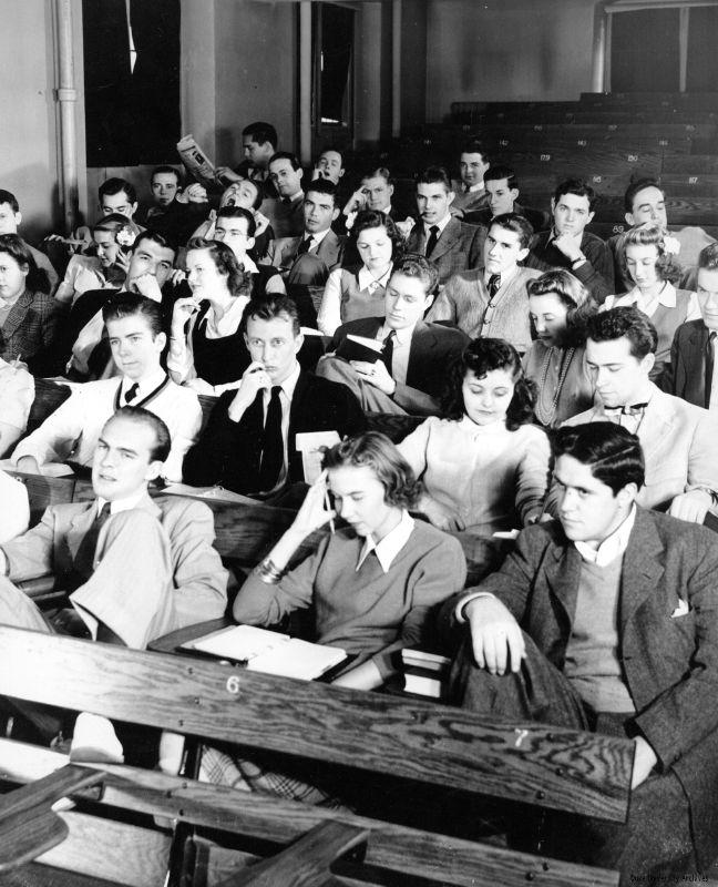 Duke University Students in Class, 1940s