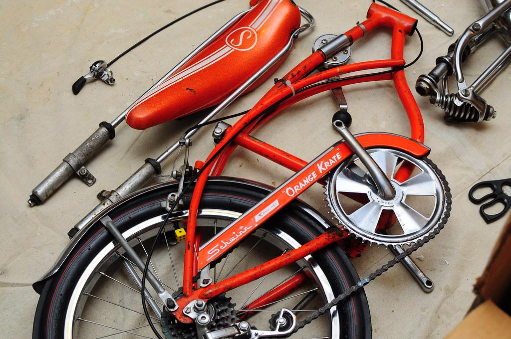 3daf366771a Schwinn 1969 Orange Krate | Close up of the bike and how rou… | Flickr