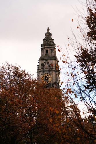 Clock at city hall