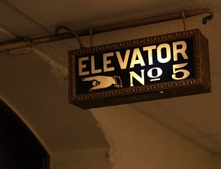 Illuminated Sign For Elevator Number Five, City Hall Sixth Floor (Philadelphia, PA)   by takomabibelot