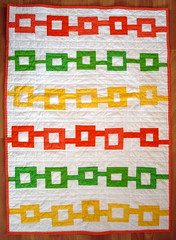 "orange, yellow, and green baby quilt, inspired by DS ""couldn't keep it to myself"" 