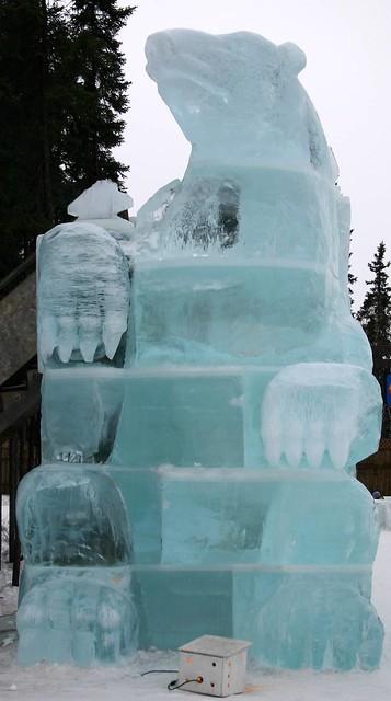 Very big blue ice bear