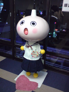 Kyoto tower mascot Tawawa-chan   by kalleboo
