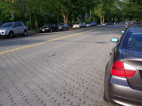 Asphalt block road pavement, South Carolina Avenue SE