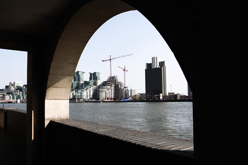 construction along Thames