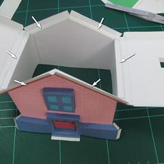 วิธีทำโมเดลกระดาษเป็นรูปบ้าน (Little House Papercraft Model) 010